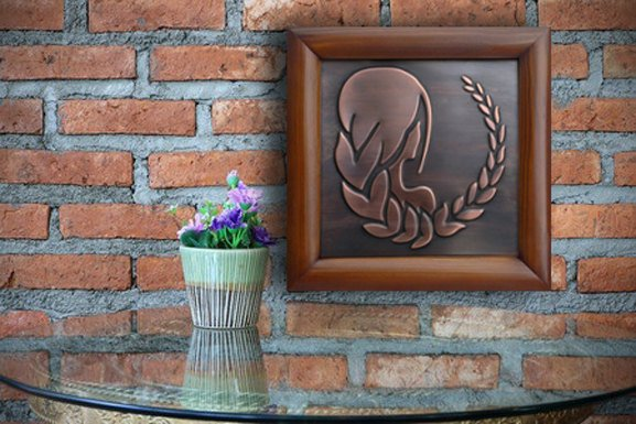 Virgo Zodiac Sign Copper Wall Plaque