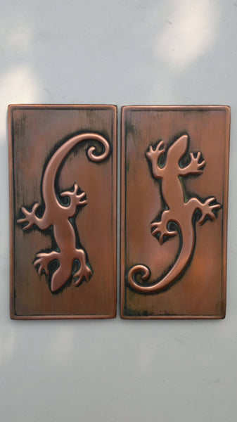 LIZARD – 2 pcs. Antique Copper Tiles