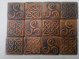 Tree of life and celtic tiles, 13 tiles set