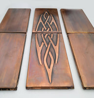 Celtic Knot and Plain Tiles - Set of 6