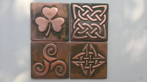 Celtic Tiles For Wall Design - Set of 4