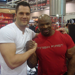 DJ Baum with Ronnie Coleman
