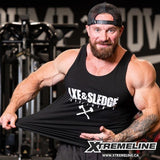 Axe & Sledge White On Black Tank Canada | xtremeline.ca
