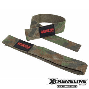 Grizzly Fitness Lifting Straps Camo | SupplementLife.ca