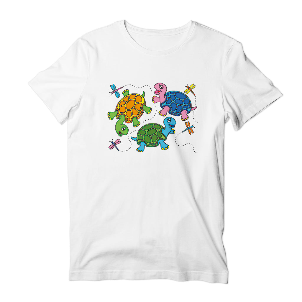 Turtles and DragonFly Kids T