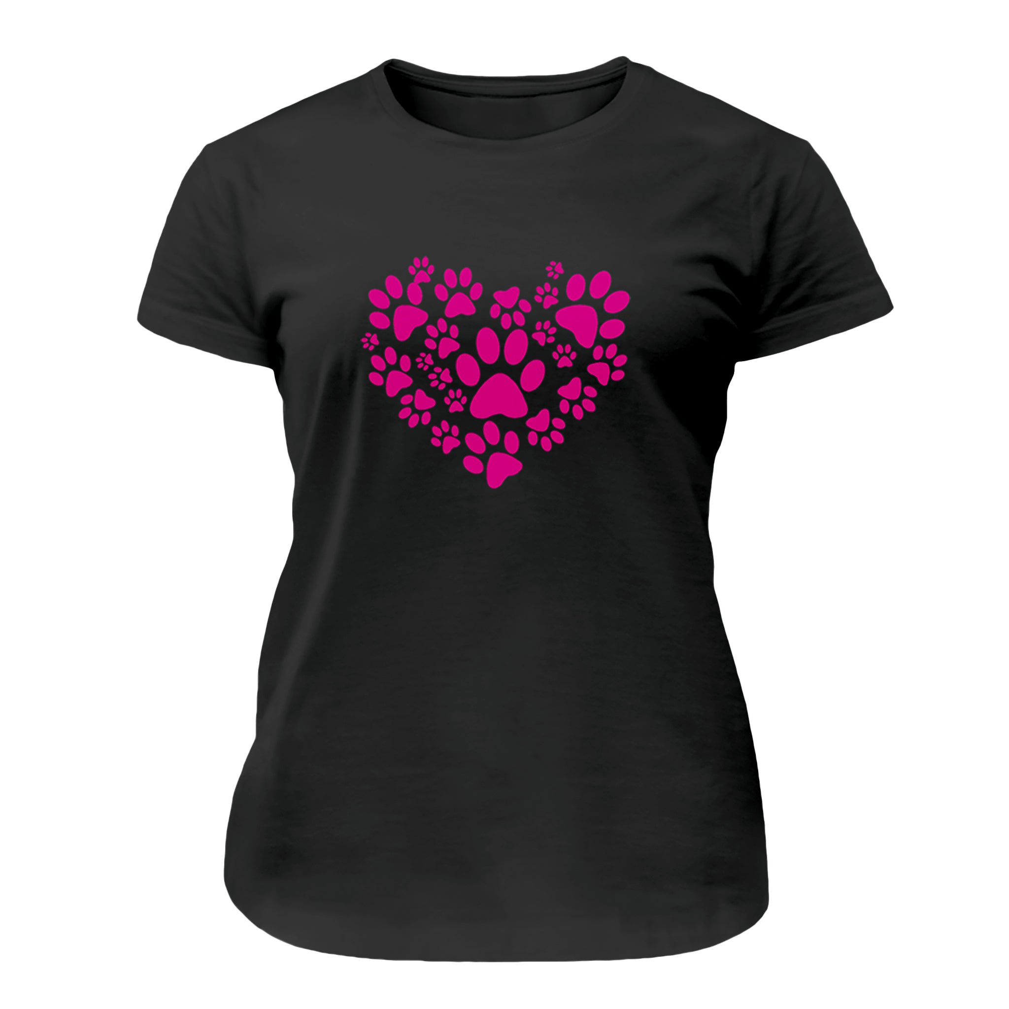 Paw Print Heart Women's T