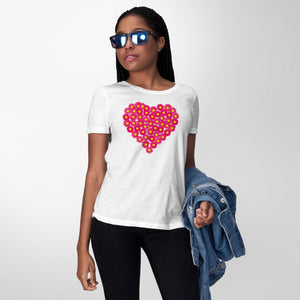 Flower Heart Women's T