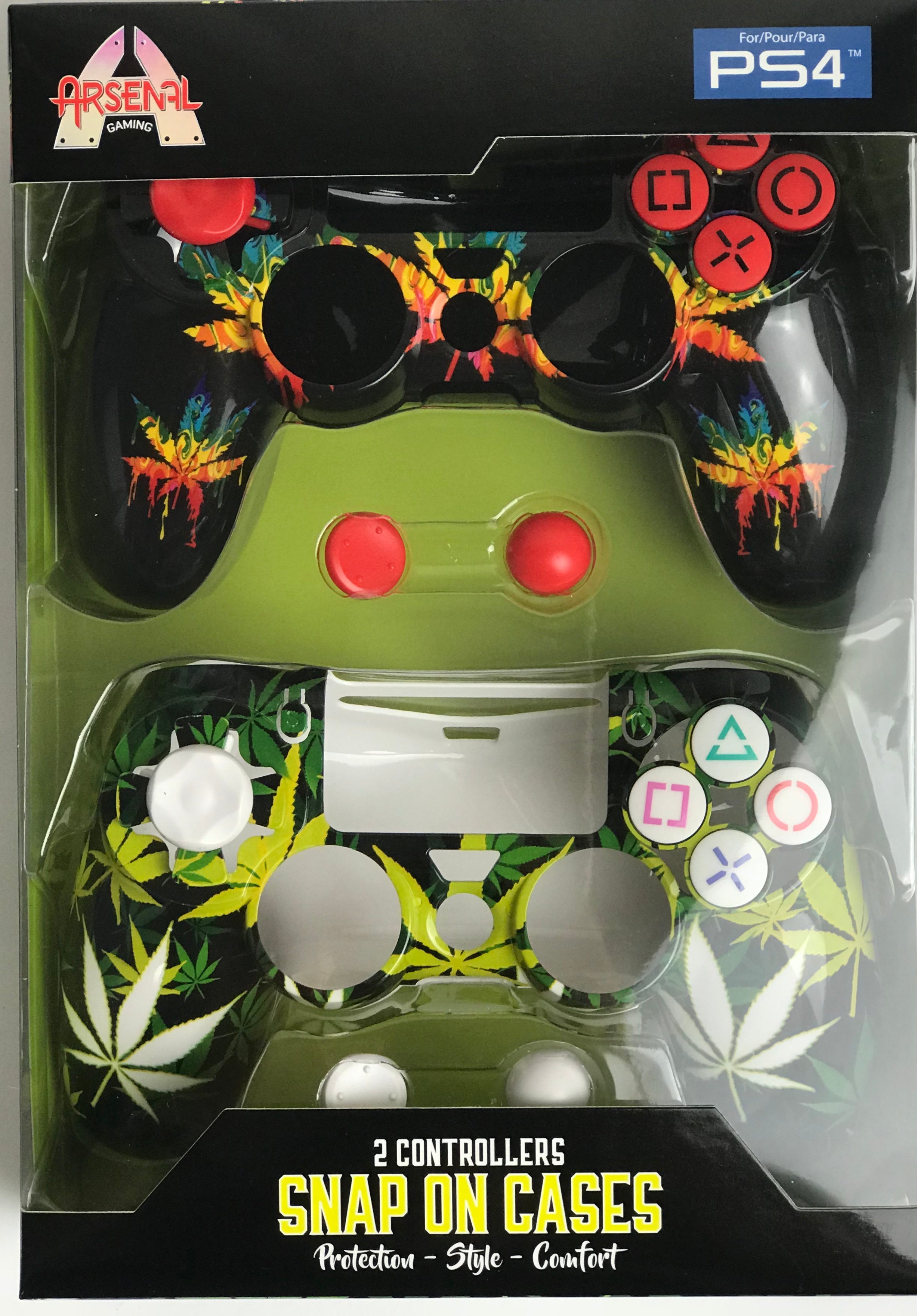 PS4 Leaf/Colorful Face Plates