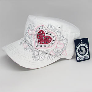 Fashion castro hat with heart