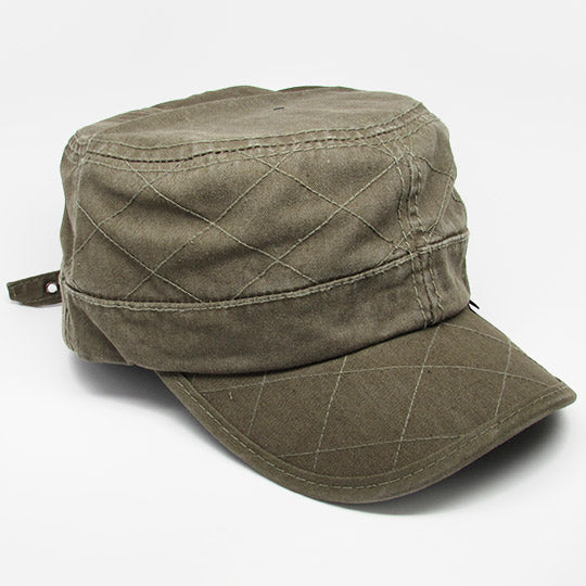 Quilt pattern stitch cadet hat