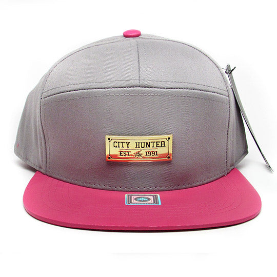 PU two-tone 7 panel baseball hat