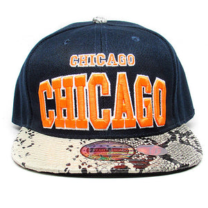 Chicago city snakesk baseball hat
