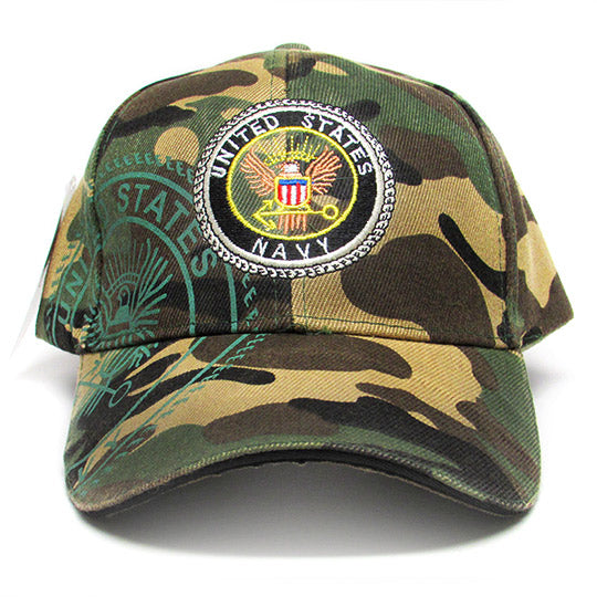 Navy camo baseball hat