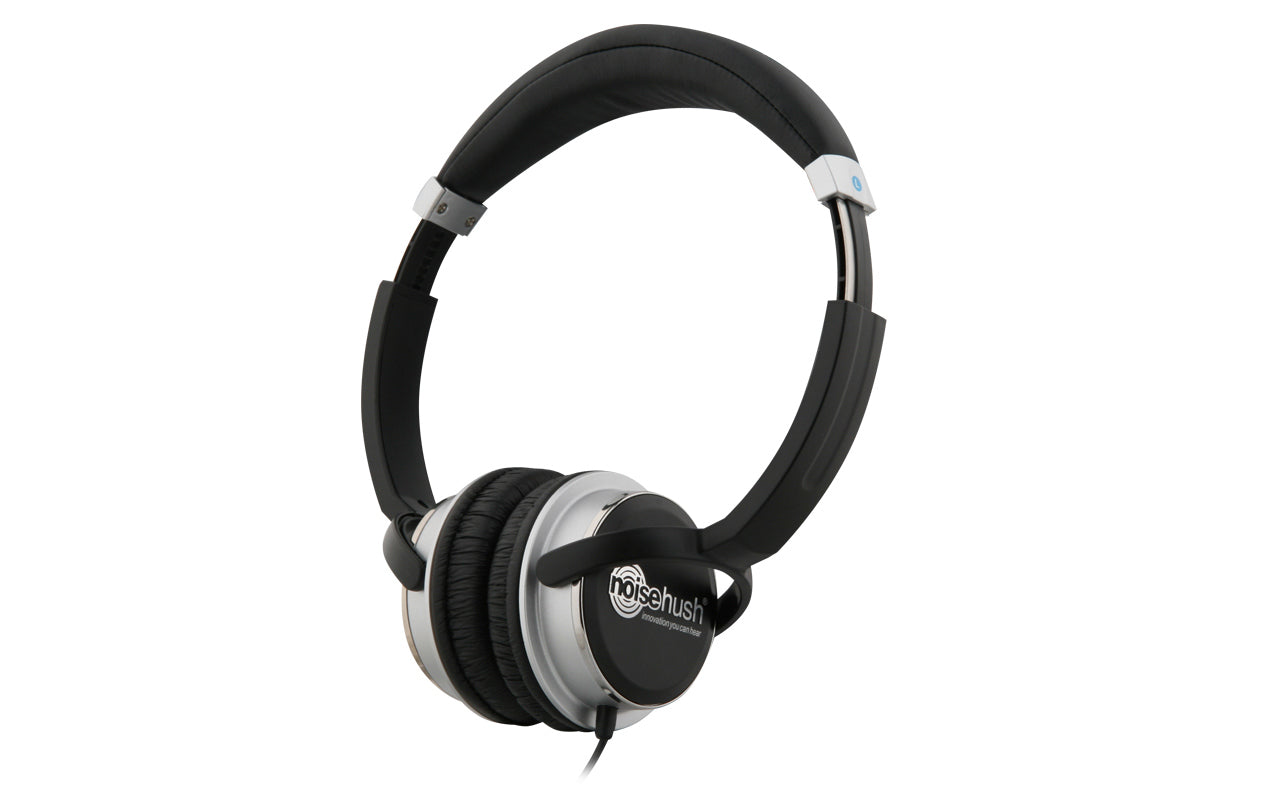 Noisehush NX26 3.5mm stereo headphones with in-line microphone - black (Multiple Colors Available)