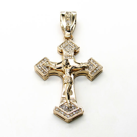 Cross micropave pendant (Gold)