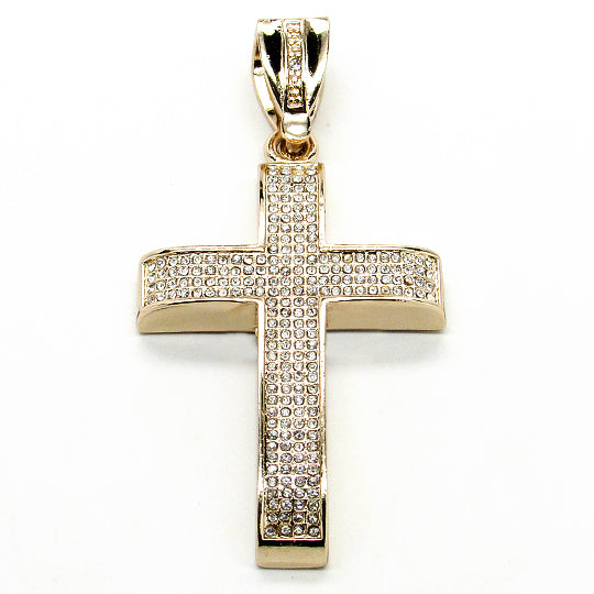 Cross micro pave pendant (Gold)