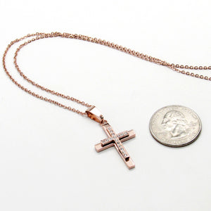 Rose Gold chain with rose gold cross