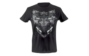 Cross with snakes and scrolls T-shirt
