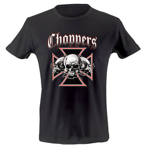 Choppers skulls and iron cross T-shirt