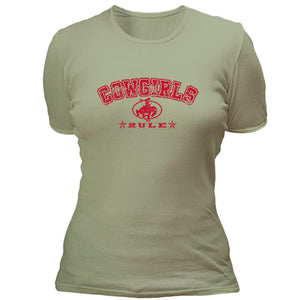 Cowgirls rule with cowgirl hat T-shirt