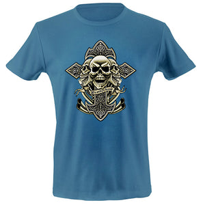 Cross skulls exhaust T-shirt