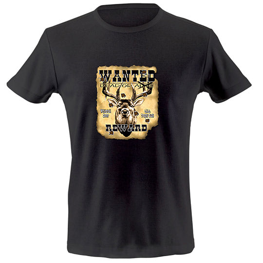 Whitetail deer wanted poster T-shirt