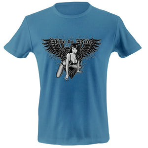 Live to ride - biker babe T-shirt