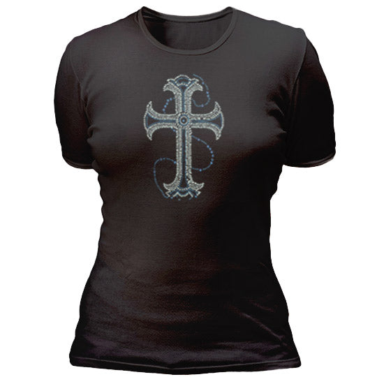 Silver and Blue Cross T-shirt