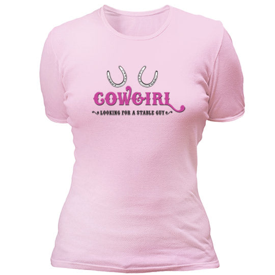 Cowgirl - looking stable guy T-shirt