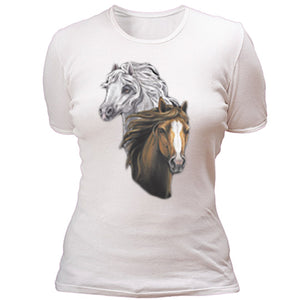 Two horse heads T-shirt