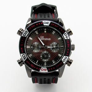 Mens Jumbo watch with red stitching