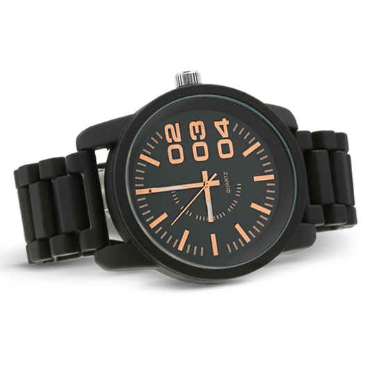 1201 Diesel style metal band watch-Black - mmzone