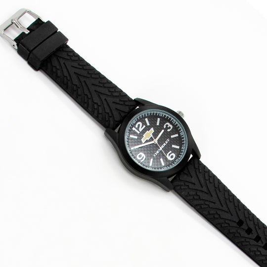 Mens watch with chevy logo