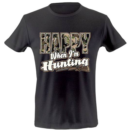 Happy when hunting T-shirt