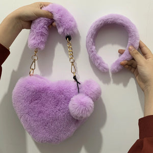 Heart bag & headband