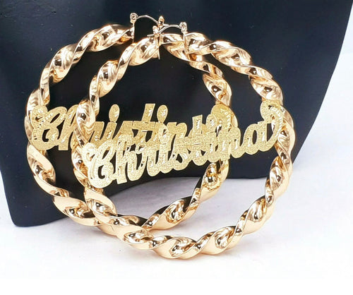 Big Hoop Name earrings
