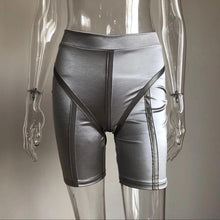 Load image into Gallery viewer, Reflective biker shorts