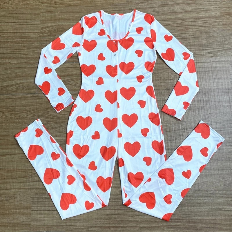 Red Hearts Onesie