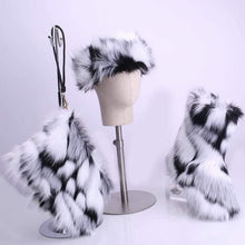 Load image into Gallery viewer, Faux Fur boots set