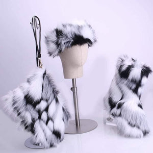 Faux Fur boots set