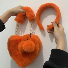 Load image into Gallery viewer, Heart bag & headband