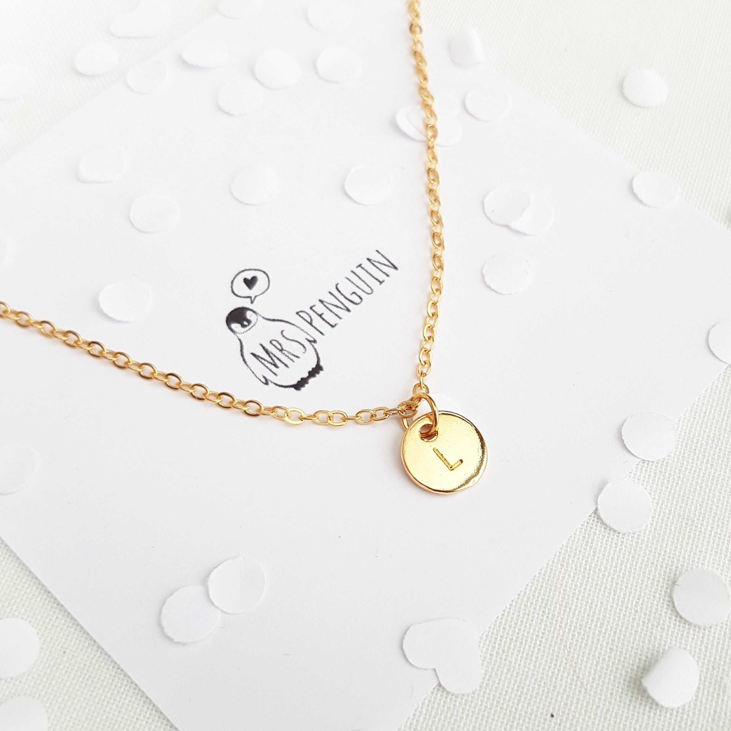 Mrs Penguin 'Personalized Initial' Necklace - Mrs-Penguin.com