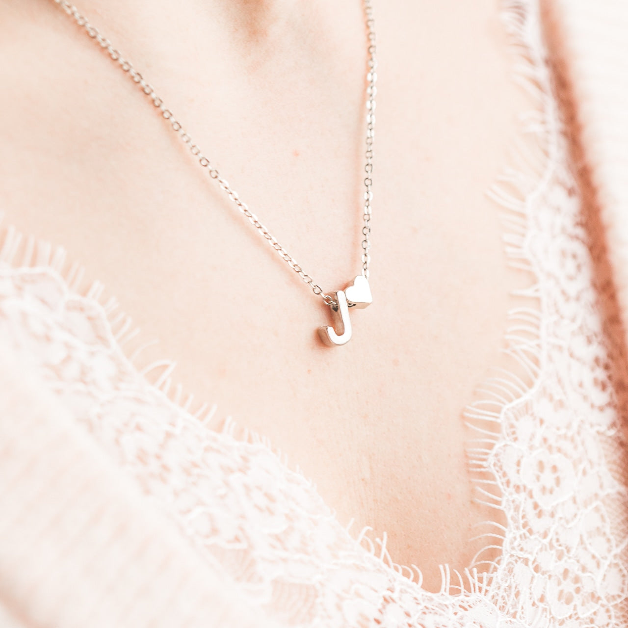 Mrs Penguin 'Personalized Heart Initial' Necklace - Mrs-Penguin.com