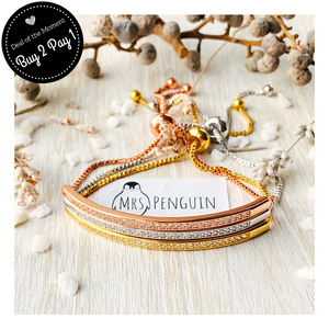 Mrs Penguin 'Crystal Bar' Bracelet - Mrs-Penguin.com