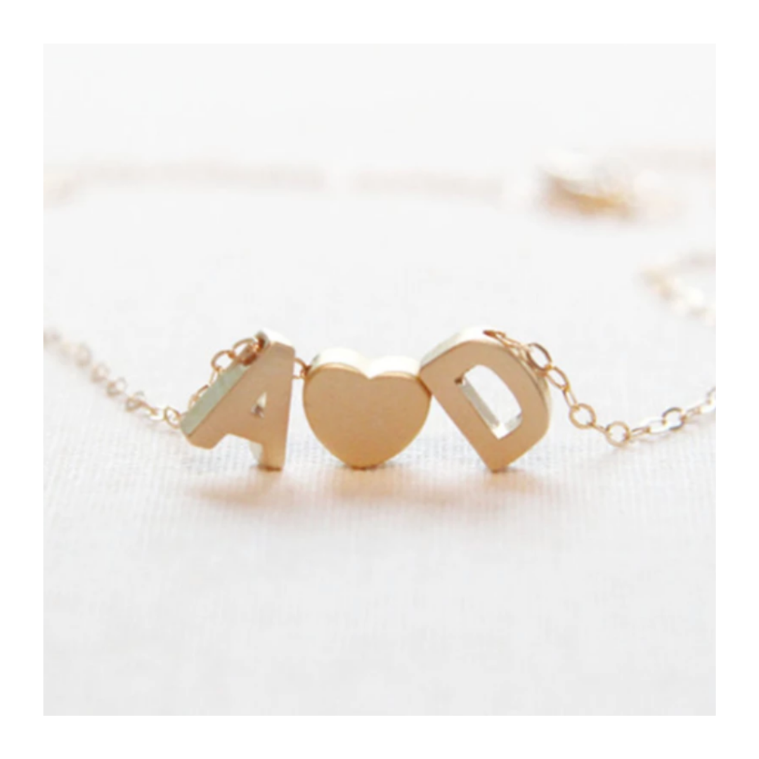 Mrs Penguin 'Personalized Heart Double Initial' Necklace - Mrs-Penguin.com