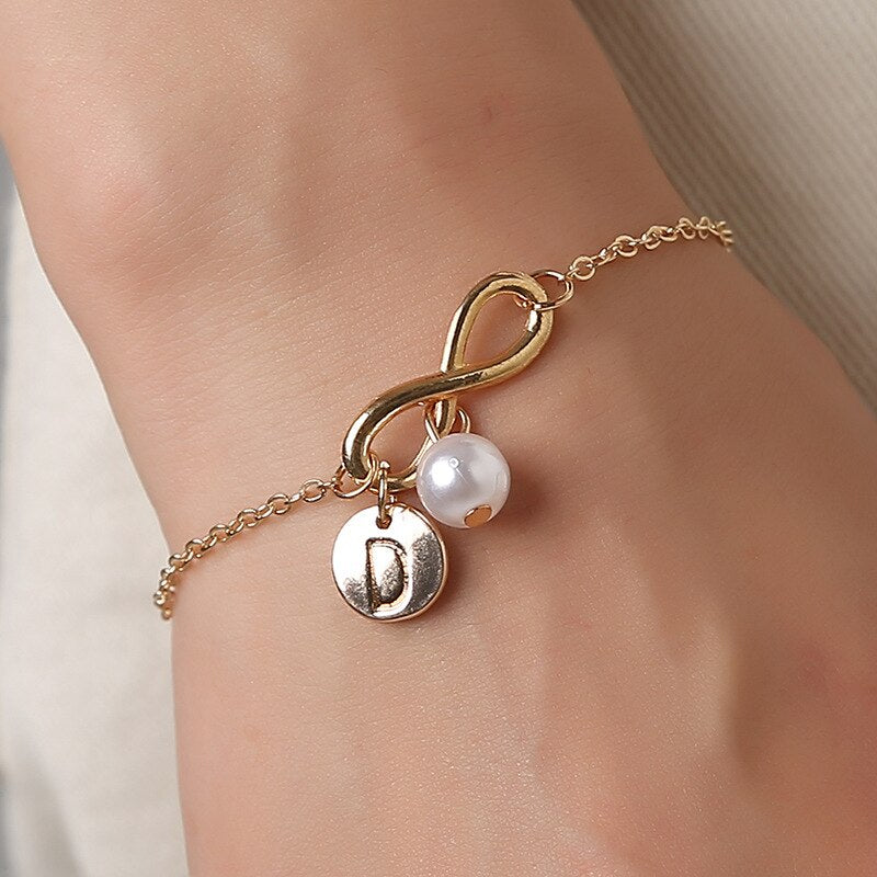 Mrs Penguin 'Personalized Infinity Initial' Bracelet - Mrs-Penguin.com