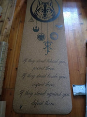 Personalized Cork Yoga Mat Eco Friendly - Custom Cork Yoga Mat - Customized Cork Yoga Mat