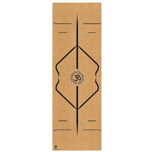 *PRE-ORDER* Cork Yoga Mat With Alignment Cues - (4.5MM)