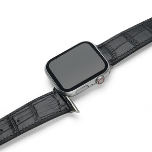 Matte Black Croco Apple Watch Strap (38/40mm)