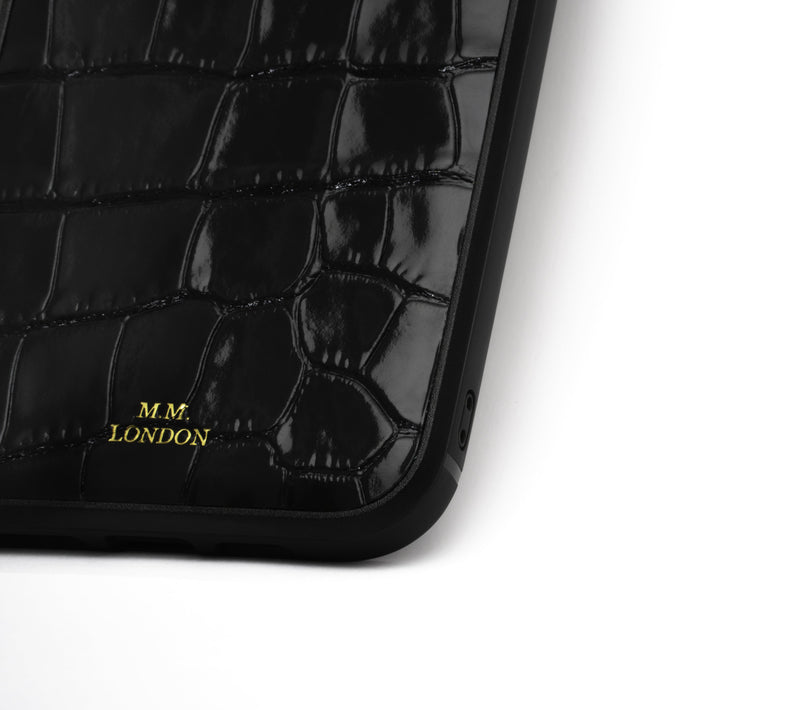 Black Croco Case (All iPhones)